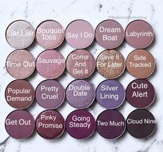 Colourpop Eyeshadows