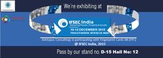 "India's leading Exhibition Organiser ""UBM"" organized #IFSEC India 2015 for Securing People, Property & Assets. This event will be held from 10th December to the 12th December 2015 at the Pragati Maidan, New Delhi. #Ashtopus #Consulting exhibit their with #Fingerprint #Cards AB."