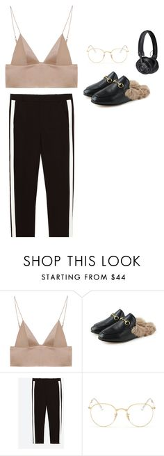 """""""With a side of confidence"""" by marfastudios ❤ liked on Polyvore featuring T By Alexander Wang, Ray-Ban and Master & Dynamic"""