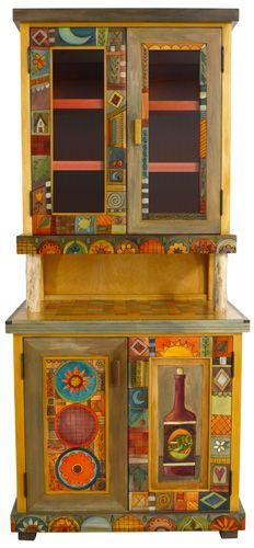 Artsy+Painted+Furniture | China Cabinet Show Original Product | Artsy Painted Furniture