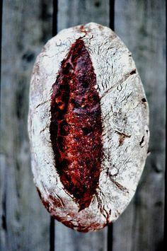 Chocolate and Chestnut Sourdough Bread {pane al cioccolato}