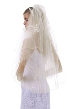 If you wish to buy please click on amazon under this Pinterest Pin.Long Cascading Double Layer Floral Embroidery Bridal Veil 36 Headpiece(Ivory) Hot from Hollywood  http://hotfromhollywoodwomensdresses.blogspot.com/ #Maxi_Dresses #Womens_Dresses #Dresses #Style #Fashion #Party_Dress #Womens_Clothing
