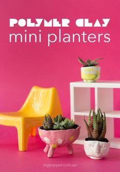 Polymer Clay Mini Planters