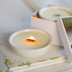 soy candles by luminology #handmade #wedding #decor