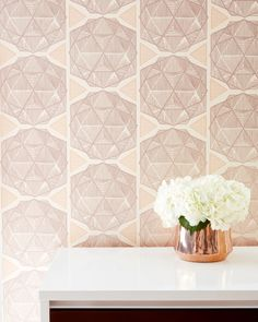 ESCHER Marrakesh - Clay coated wallpaper by Relativity Textiles. Hand screen printed in the USA; sold by the double roll (30' length).