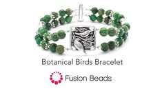 Watch how to make the Botanical Birds Bracelet by Fusion Beads