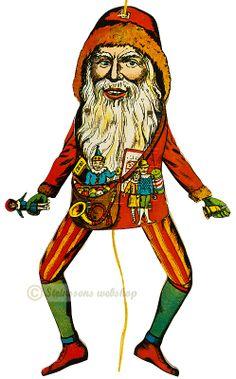 Steinssons - Adventskalender - fra 1970talet, röd/orange