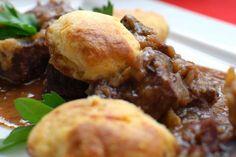 Beef Casserole With Parmesan Dumplings - Weber - New Zealand Beef Casserole Recipes, Casserole Dishes, Meat Recipes, Recipies, Dumpling Recipe, Dumplings, Weber Bbq Recipes, Beef Ham, Beef Dishes