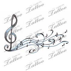 Marketplace Tattoo Music Notes and Treble Clef Tattoo #1999 | CreateMyTattoo.com