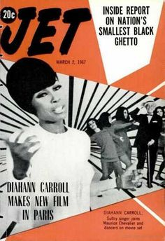 Diahann Carroll on the cover of Jet magazine, March 1967. (  Vintage / Retro Magazine Cover / Graphic Design / Soul / R / 60's )