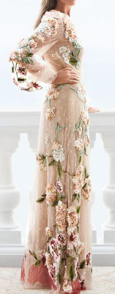 Floral and lace long sleeve gown- can I wear this to bed every night please and pretend to be a princess! Love!