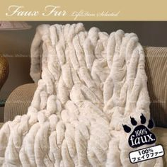 [Venda] Faux Fur Faux pele (pele falsa) mink Premier cobertor marfim
