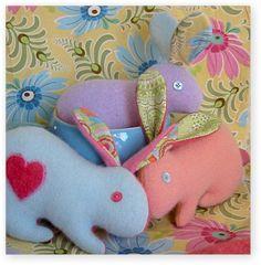 Cashmere Softie Easter Bunny Tutorial - sew-whats-new.com