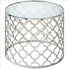 #Watertown, NY            #table                    #Regina #Andrew #Brushed #Nickel #Glass #Table      Regina Andrew Brushed Nickel Glass Top Table                                  http://www.seapai.com/product.aspx?PID=27546
