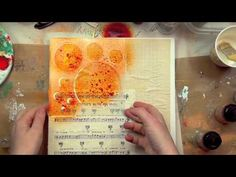 Video....by Christy Tomlinson....Stencils and Masks mixed media collage...part 1.
