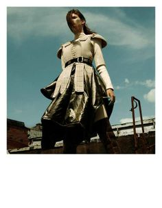 Feminine Warrior Fashion - The i-D Magazine Winter 2012 Editorial Stars a Battle-Ready Kendra Spears (GALLERY)