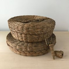 native american sweet grass sewing basket lidded basket hand woven