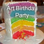 Art Birthday Party ideas--love the mural idea along with the activities