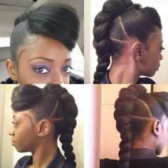 Single braid sectioned hairstyle with bangs