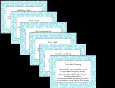 Bridal Shower Wine Basket Poem Tag PRINTABLE- Blue Damask via Etsy
