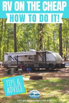You can RV on the cheap! We share 5 practical ways to save money and make your next vacation, extended trip, or even full-time RV life enjoyable and affordable!! #happycampers #rvcamping #fulltimervliving Travel Trailer Camping, Rv Travel, Rv Camping, Time Travel, Cheap Rv Living, Rv Parks And Campgrounds, Rv Organization, Rv Life, Ways To Save Money