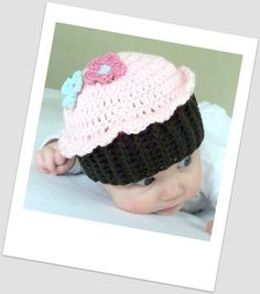 Cupcake Cutie Hat - Baby and Toddler - Crochet Pattern PDF- ** to bad i dont know how to crochet**