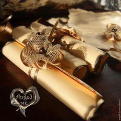 Maestro invitación a una celebración en la forma de un pergamino antiguo - Masters - Feria artesanal, hecho a mano