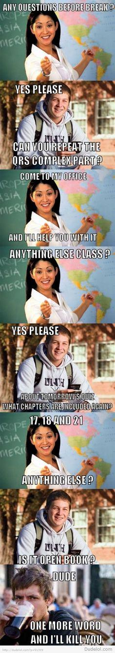 College freshman vs college senior