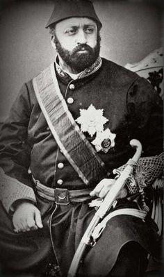 Le sultan Ottoman et calife de l'islam Abd al-Aziz  (8 février 1830 - 4 juin 1876)