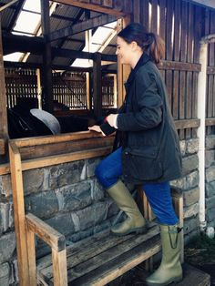 Barbour and le chameau wellies. Perfect for the ponies!