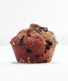 Banana-Blueberry Bran Muffin | Whip up a batch of one of these easy pastries for breakfast or brunch.