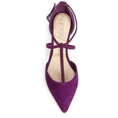 Berry pointed flats | purple | Pinterest ❤ liked on Polyvore featuring shoes, flats, pointed flat shoes, purple shoes, pointy shoes, purple flats and flat pumps