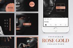 Instagram Rose Gold Pack by Tugcu Design Co. on @creativemarket
