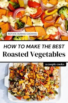 Here's how to roast vegetables with the best seasoning blend! These epic roasted vegetables fill two sheet pans and take 30 minutes to roast. | vegetable side dishes | healthy side dishes | side dishes | #roasted #vegetables #howto #healthy #sidedish