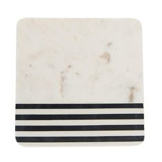 This cheese board is great because it has nautical elements with a touch of modern elements, too! The stripe and marble are two staples that totally belong together. Use to display cheeses, small treats, or fresh bread! Sage Kitchen, Kitchen Shelf Decor, Kitchen Essentials, Serveware, Kitchen Accessories, Kitchen Gadgets, Black Stripes, Plastic Cutting Board, Cheese