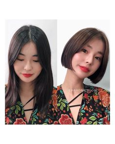 Asian Short Hair, Girl Short Hair, Short Hairstyles For Women, Bob Hairstyles, Before And After Haircut, Short Hair Styles, Hair Cuts, Makeup, Hair Ideas