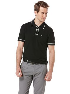 Check out The Earl Polo 2.0 in Caviar on originalpenguin.com for free shipping until Wednesday, June 26th at Midnight!