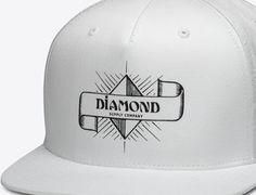 Desert Nights White Snapback Cap by DIAMOND