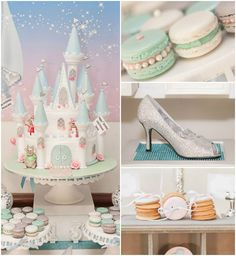 Darling Princess Cinderella themed birthday party  Favors, printables, invitation, cakes, cupcakes...