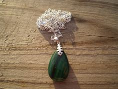 Green Malachite Pendant Necklace by tlw1212 on Etsy