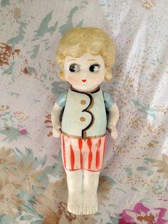 Vintage Bisque Kewpie Doll