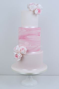 Pink Marble wedding cake by Blossom Tree Cake Company - For all your cake decorating supplies, please visit https://www.craftcompany.co.uk/