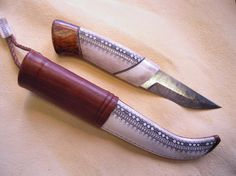 Saami knife by Stig Sjunnesson. Blade: Robert Mattson