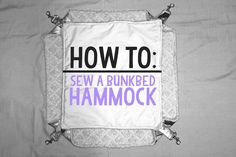 How to make hammocks. Bunkbed hammock for rats, ferrets or other small animals.