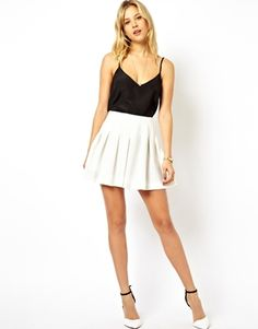 Image 1 of ASOS Mini Skirt with Structured Pleats