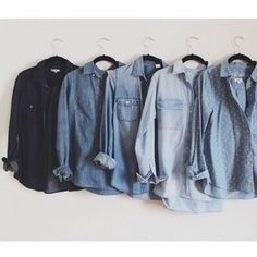Denim chambray button down top So much chambray! I have two others already listed as well. Cute dark wash denim button down top. Casual petite size fits best size medium. Valerie Stevens Tops Button Down Shirts