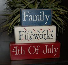 Family Fireworks 4th Of July Americana Decor by SimpleBlockSayings