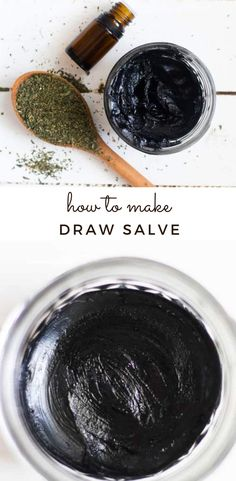 Learn how to make draw salve with this simple recipe. Draw salve can come in handy for removing splinters, relieving bee stings, and other skin irritations. It is made with natural ingredients, essential oils, and activated charcoal. Basil Essential Oil, List Of Essential Oils, Essential Oil Diffuser Blends, Young Living Essential Oils, Drawing Salve, Roller Bottle Recipes, Bites And Stings, Ingrown Toe Nail, How To Make Drawing