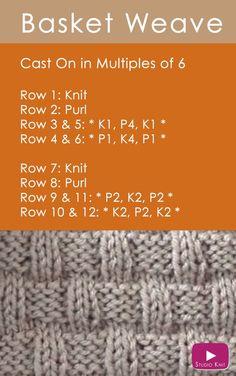30 Amazing Image of Knitting Patterns Easy Free . Knitting Patterns Easy Free How To Knit The Basket Weave Stitch Easy Free Knitting Pattern Knitting Stiches, Knitting Patterns Free, Knitting Needles, Knitting Yarn, Free Knitting, Crochet Stitches, Stitch Patterns, Knit Crochet, Crochet Granny