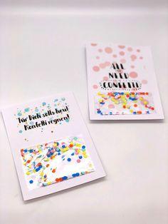 Geburtstagskarte Zum Ausdrucken Selber Machen Mit Konfetti Bäume